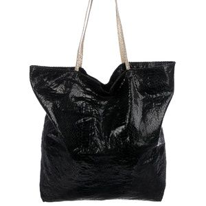 CARLOS FALCHI Black Leather Shoulder Bag